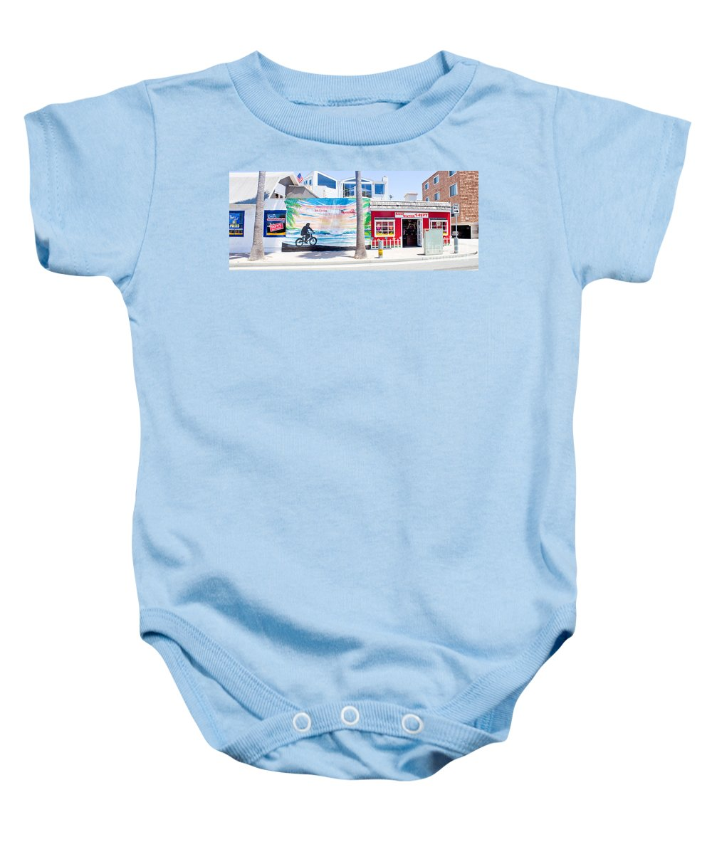 Architecture Baby Onesie featuring the photograph Salt Water Taffy Panorama Balboa California by Thomas Marchessault