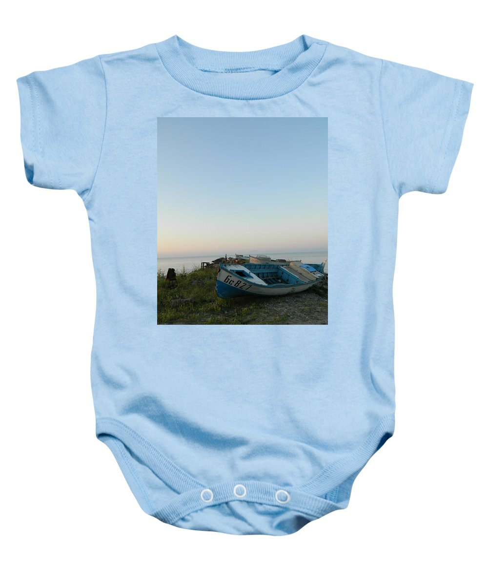 Old Baby Onesie featuring the photograph Sarafovo Mornings by Valentin Emmanouilidis