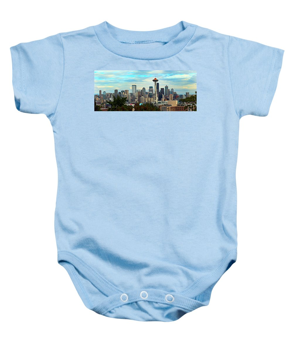 America Baby Onesie featuring the photograph Seattle by Paul Fell