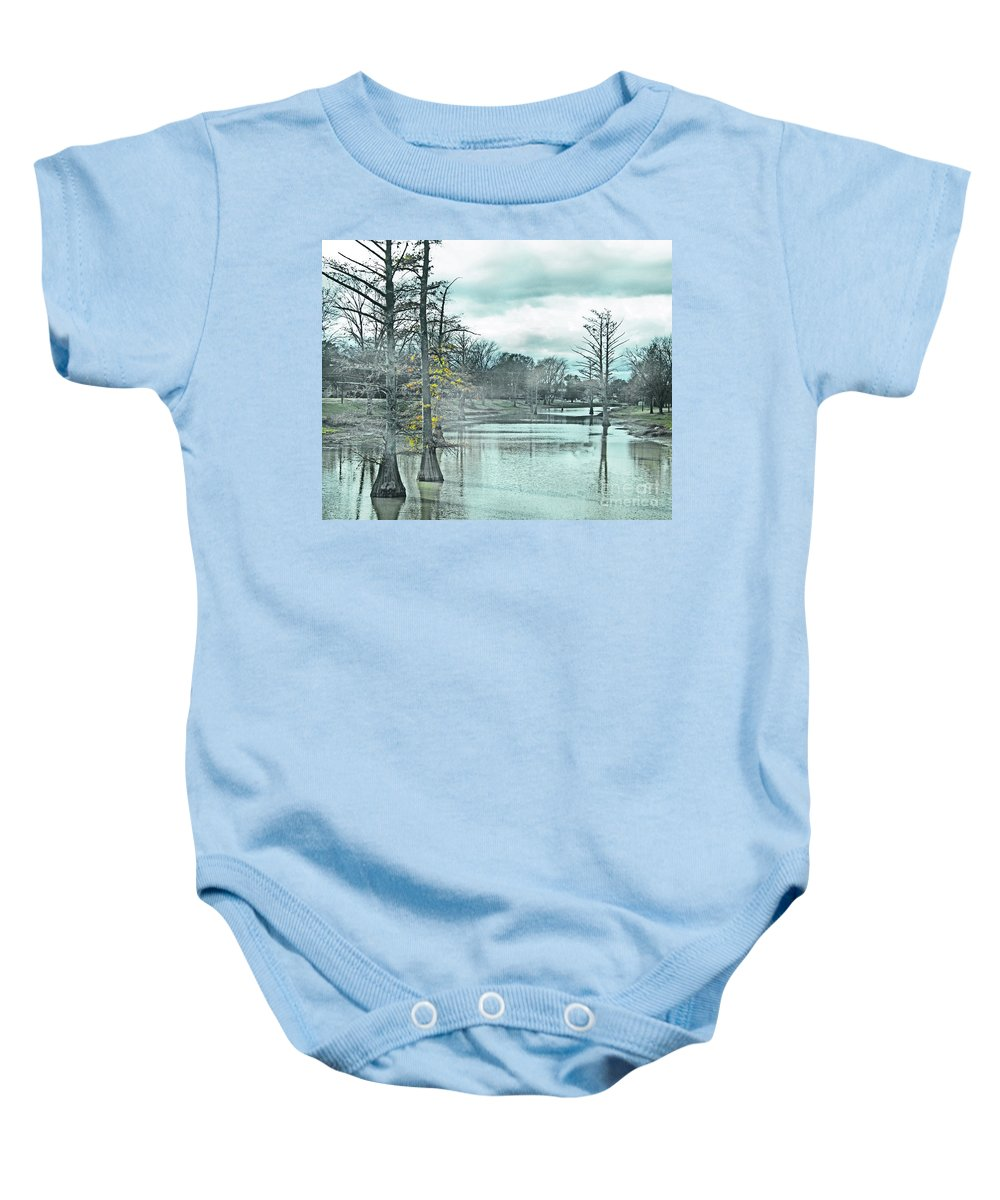 Shaw Baby Onesie featuring the digital art Shaw Mississippi by Lizi Beard-Ward