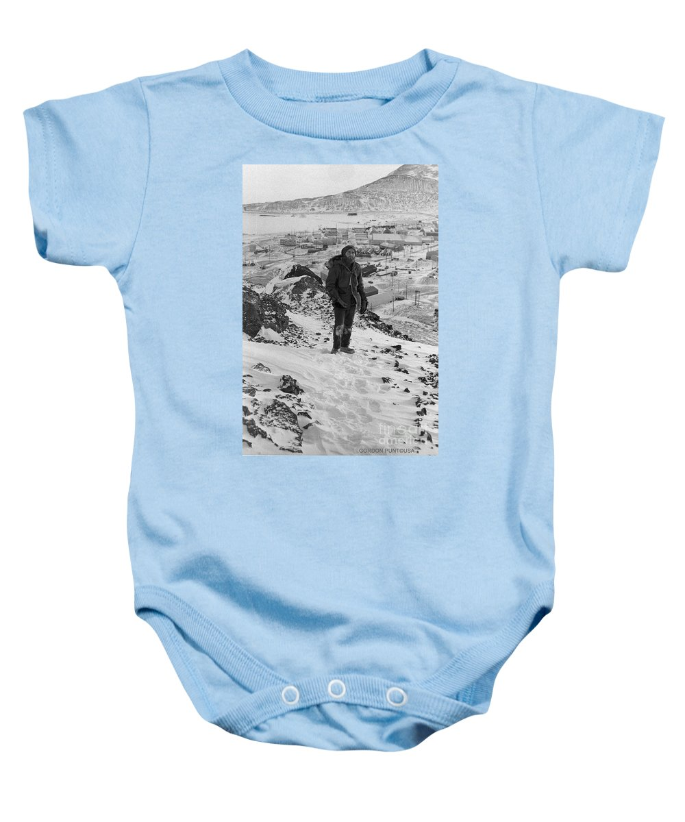 South Pole Baby Onesie featuring the photograph Southpole-antarctica-photos-4 by Gordon Punt