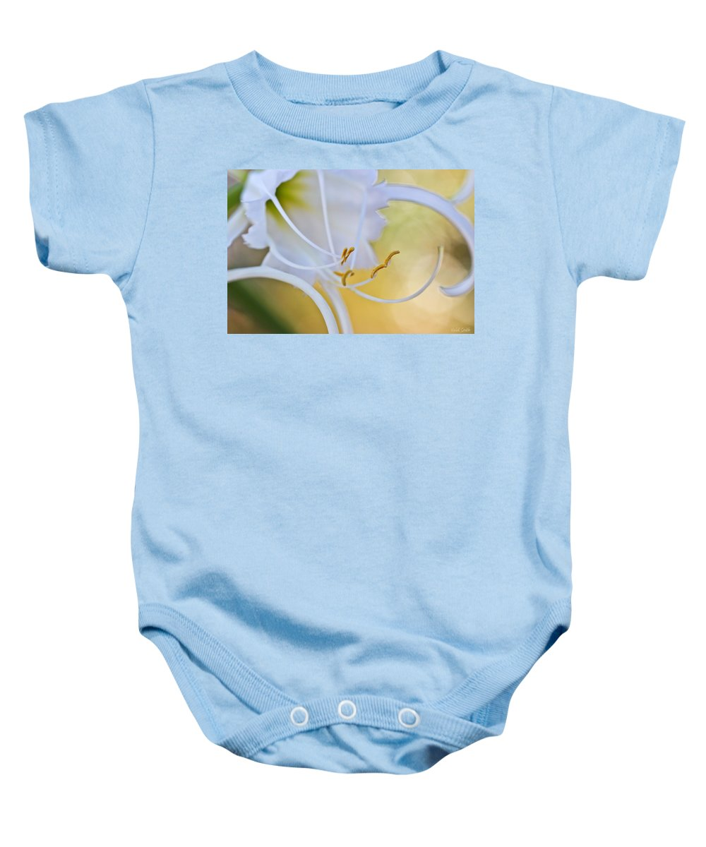 Spider Lily Baby Onesie featuring the photograph Spider Lily 2 by Heidi Smith