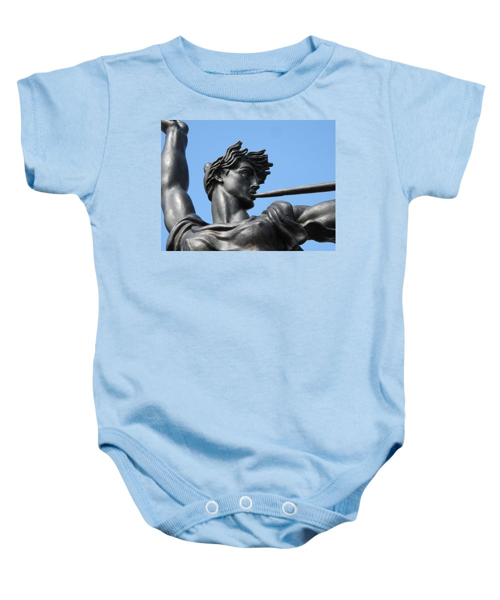 Statue Baby Onesie featuring the photograph Stand Strong by Michele Nelson