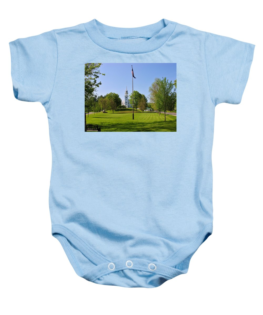 Strafford Vermont Baby Onesie featuring the photograph Strafford Vermont by Sherman Perry