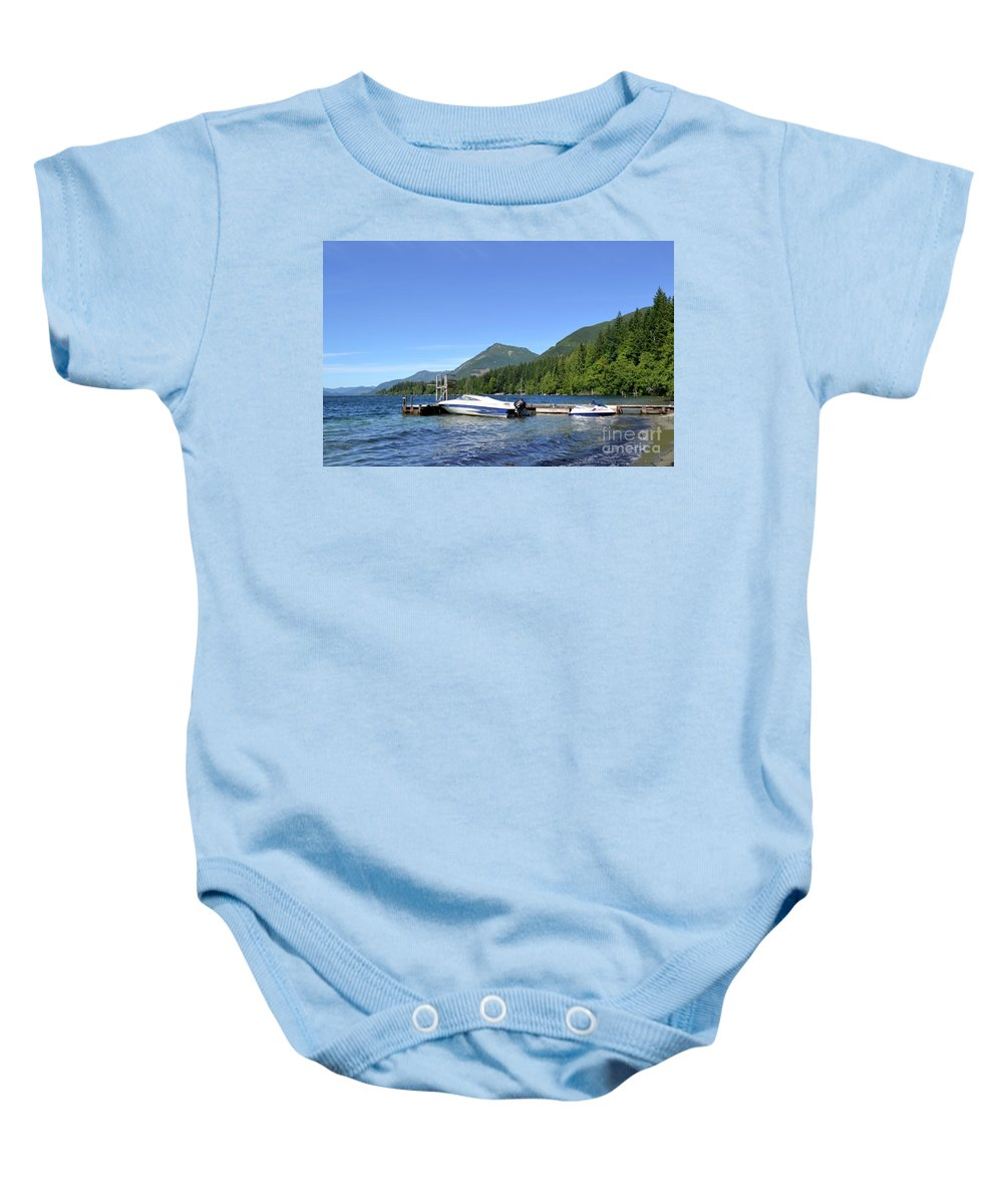 Ocean Baby Onesie featuring the photograph Summer Boat by Traci Cottingham