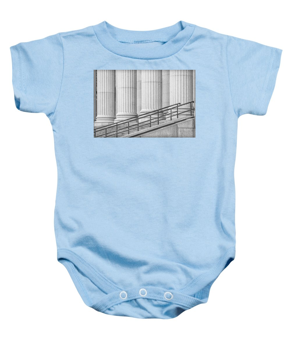 James Farley Post Office Baby Onesie featuring the photograph Symmetry by Susan Candelario