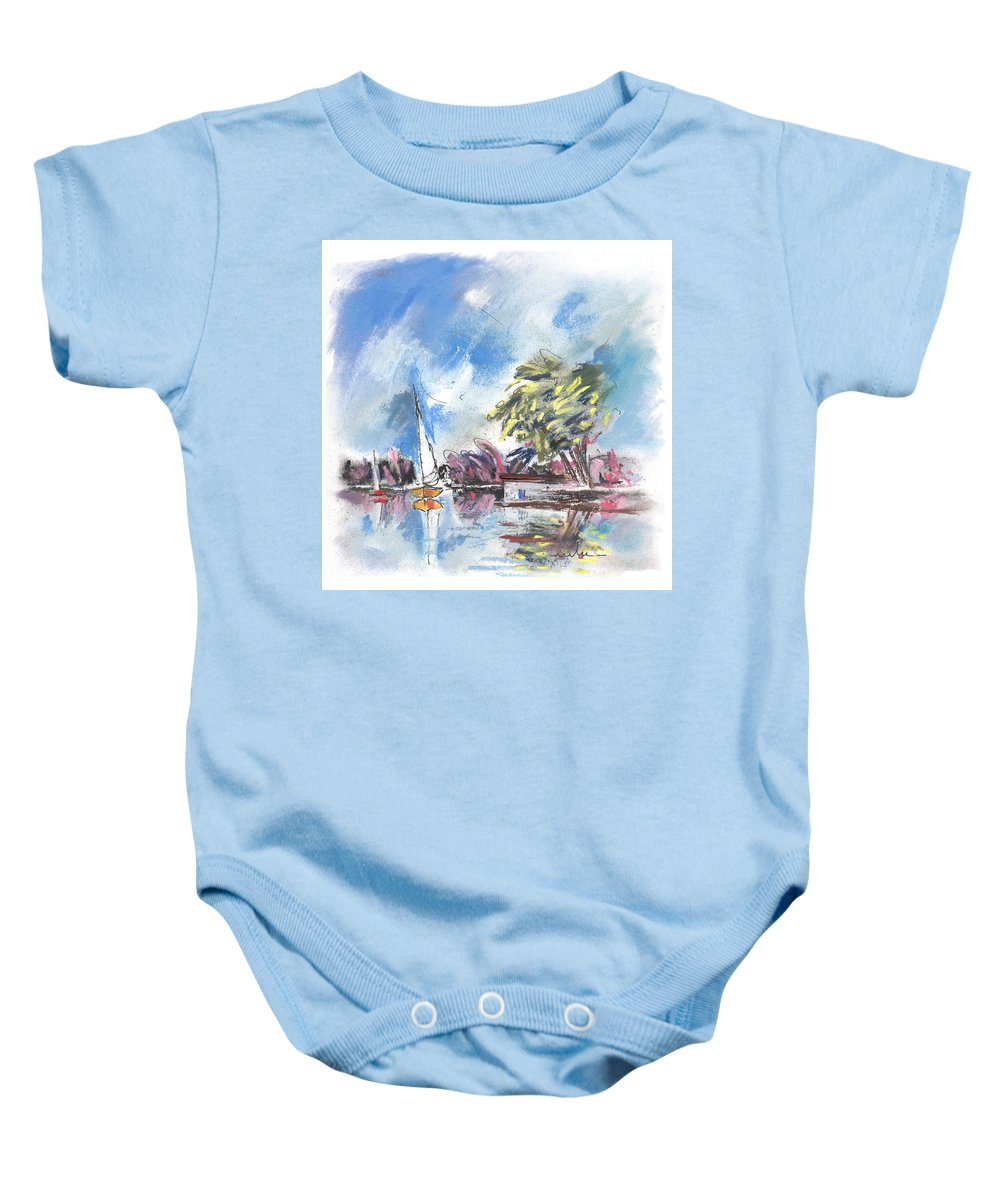 France Baby Onesie featuring the painting Tarn Et Garonne In France 01 by Miki De Goodaboom