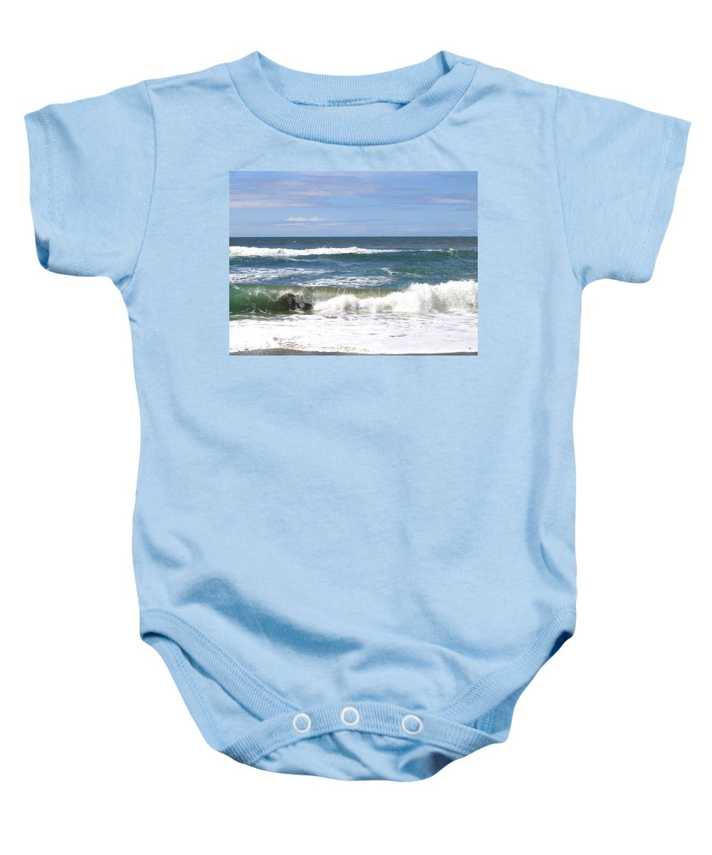 Sea Baby Onesie featuring the photograph The Captivating Sea by Will Borden