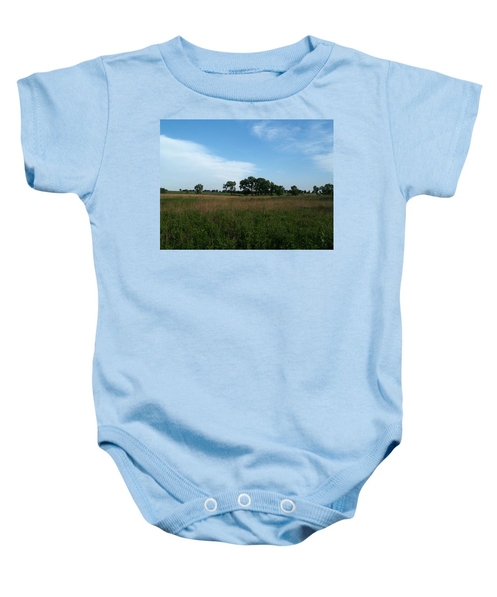 Beatrice Baby Onesie featuring the photograph The First Homestead by Joshua House