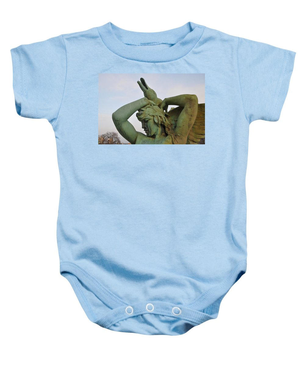 Fountain Baby Onesie featuring the photograph The Goose Strangler by Bill Cannon