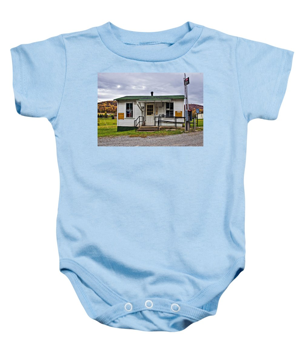 Glady Baby Onesie featuring the photograph The Heart Of Glady by Steve Harrington