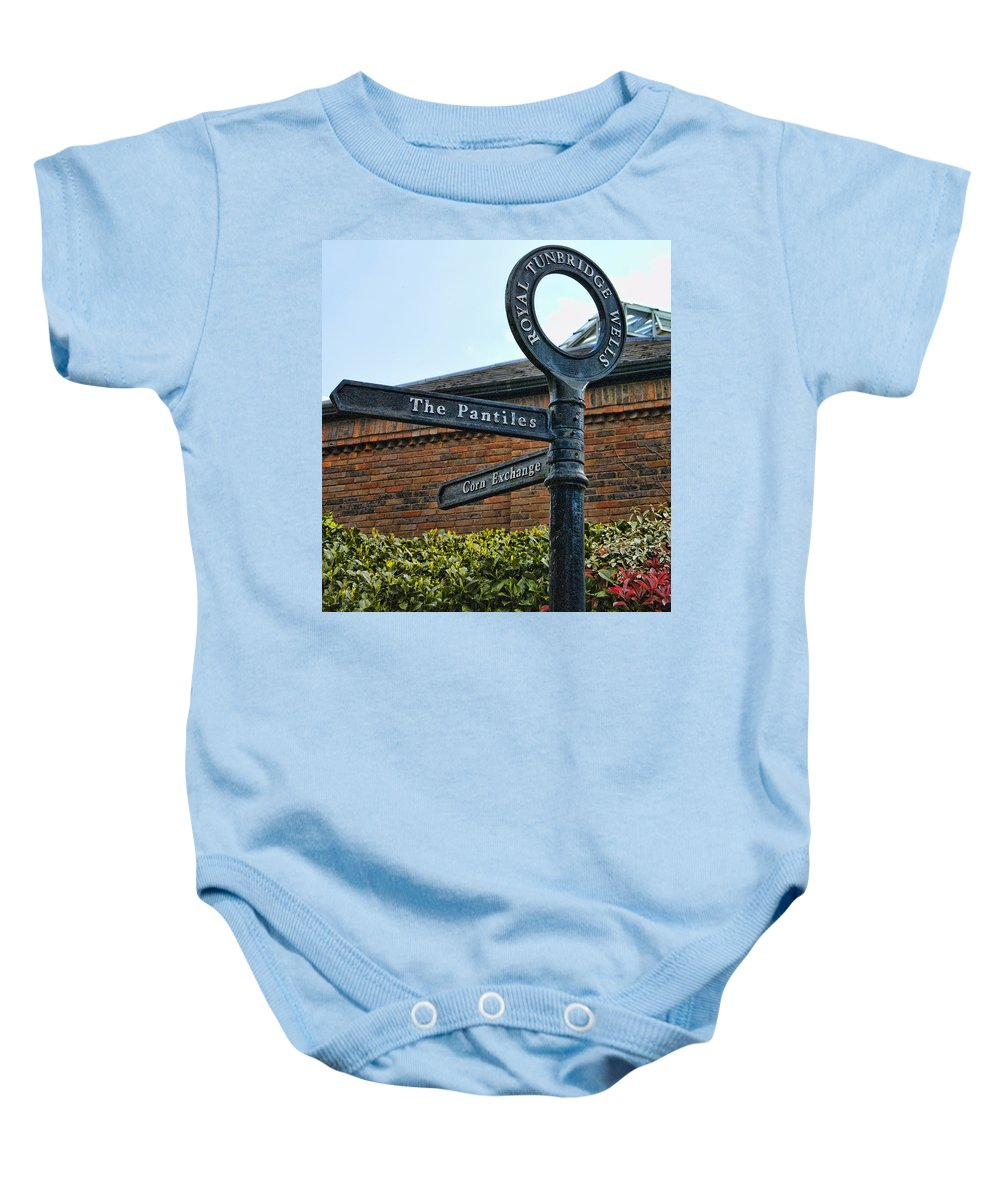 England Baby Onesie featuring the photograph The Pantiles by Jon Berghoff