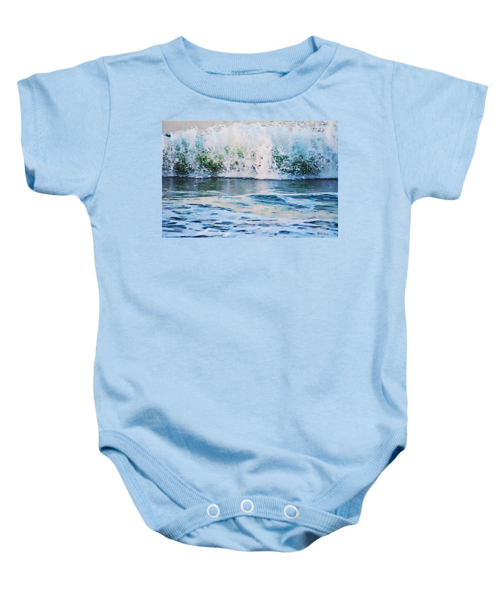 The Wave Baby Onesie featuring the photograph The Wave by Bill Cannon