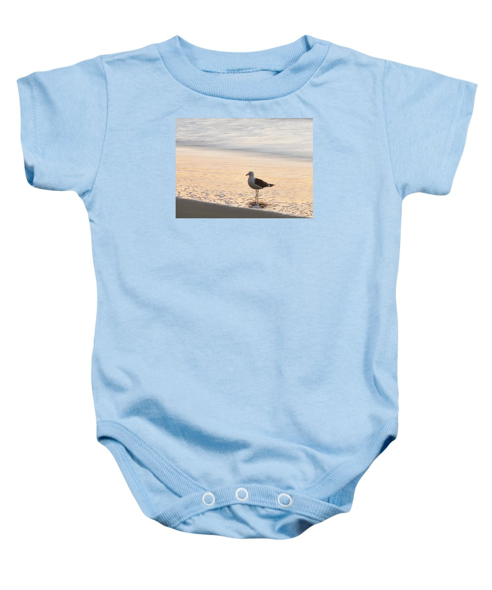 Sea Baby Onesie featuring the photograph The Wave Recedes by Steve Taylor