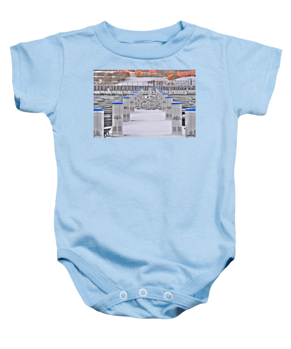 Baby Onesie featuring the photograph This Cold's For The Birds by Michael Frank Jr