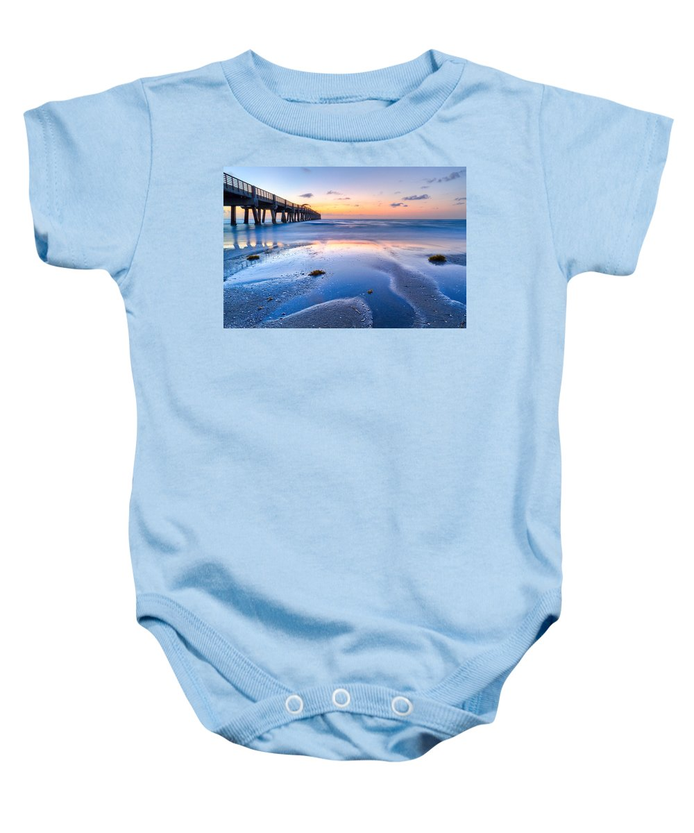 Beach Baby Onesie featuring the photograph Tidal Pools by Debra and Dave Vanderlaan