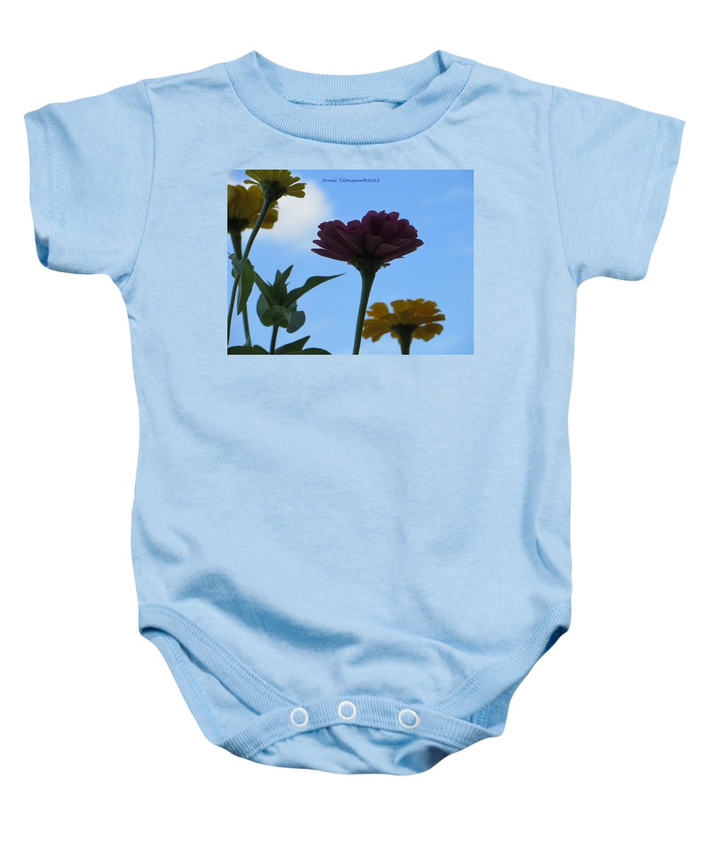 Bunch Of Flowers Baby Onesie featuring the photograph Touch Of Sky by Sonali Gangane
