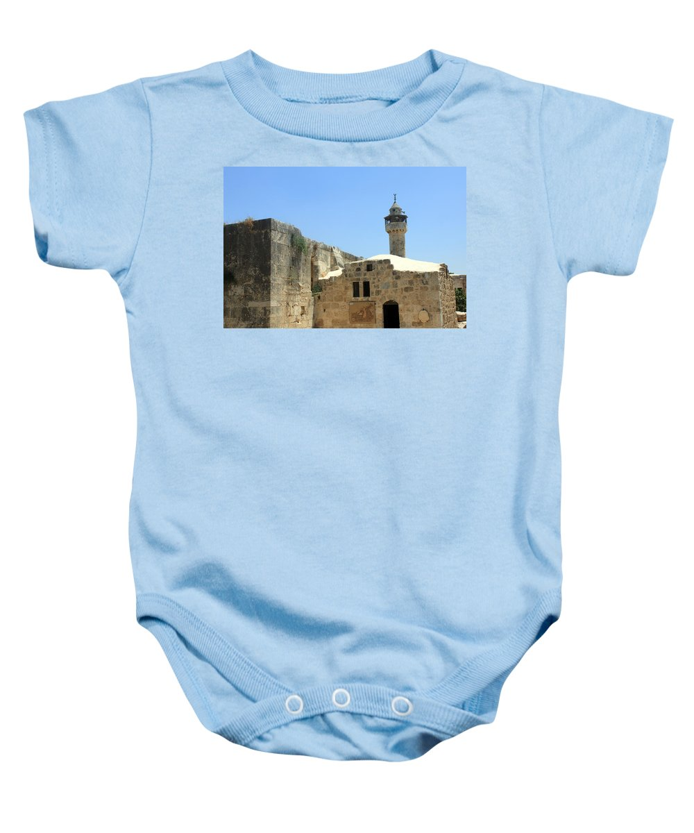Sebastia Baby Onesie featuring the photograph Tourist Information Office In Sebastia by Munir Alawi