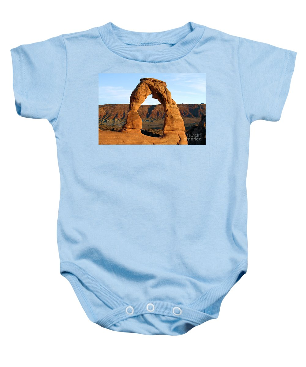 Delicate Arch Baby Onesie featuring the photograph Ultimate Arch by Adam Jewell