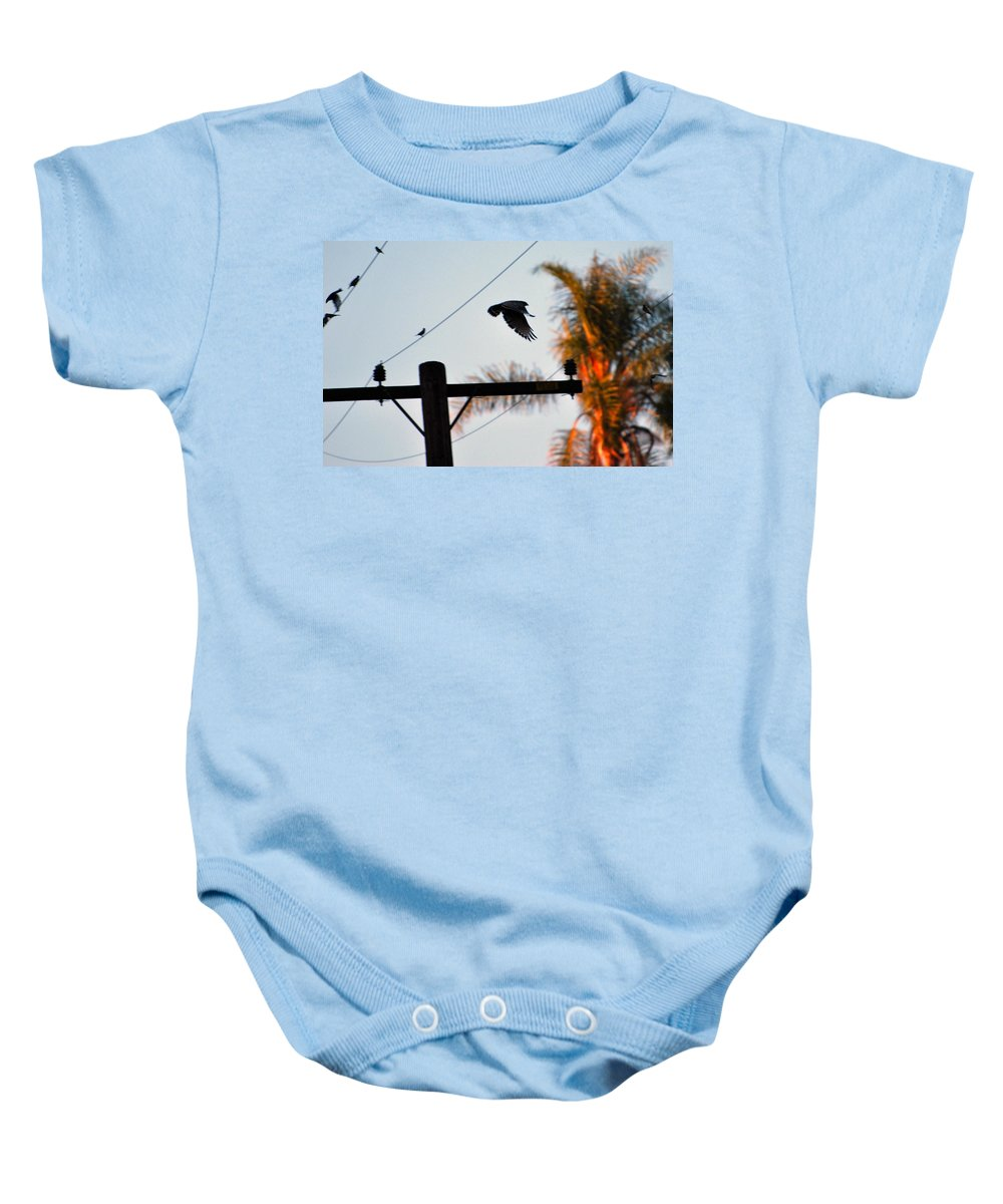 Hawk Baby Onesie featuring the photograph Up Up And Away by Stephanie Haertling