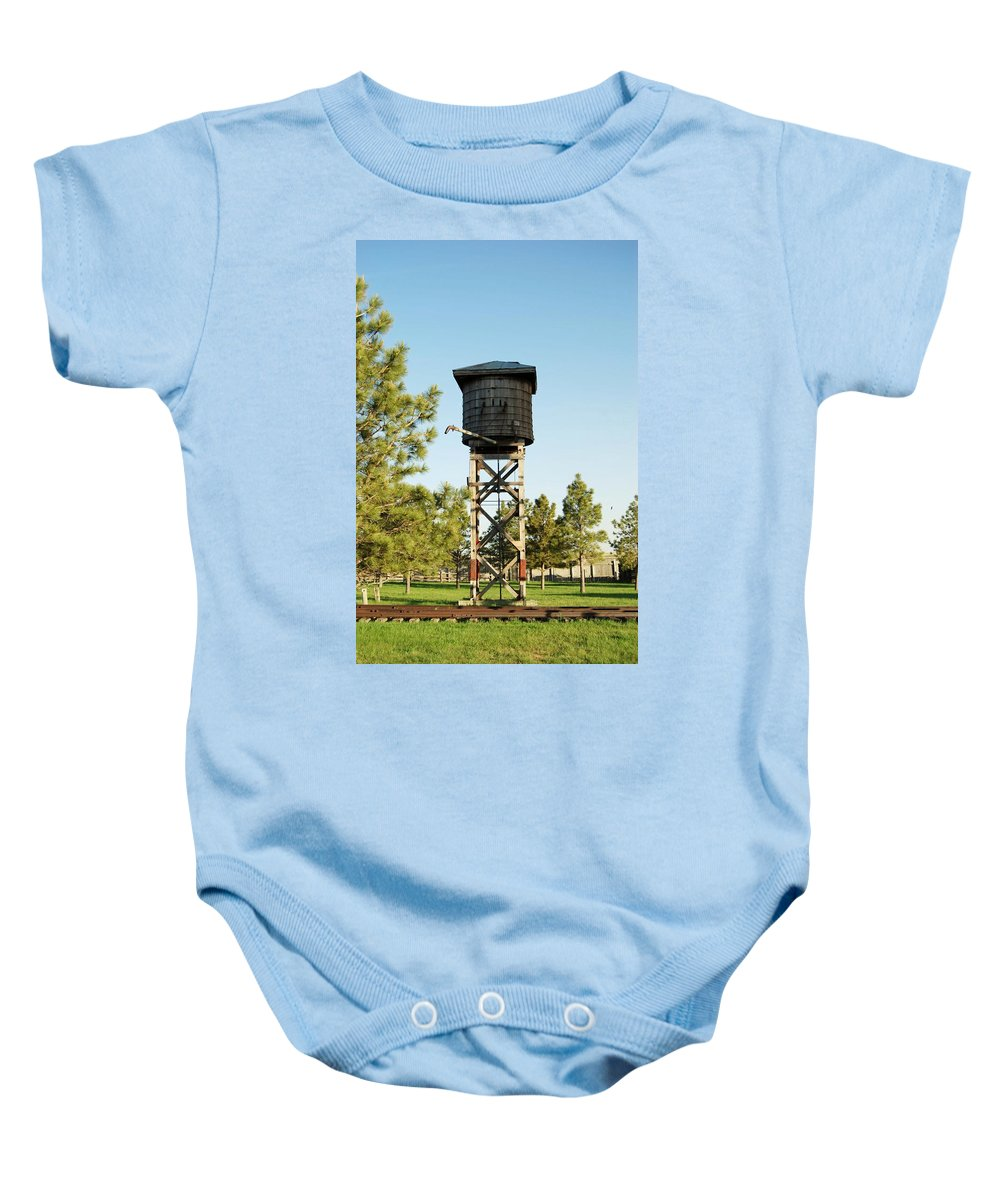 Tank Baby Onesie featuring the photograph Vintage Water Station by Judy Hall-Folde