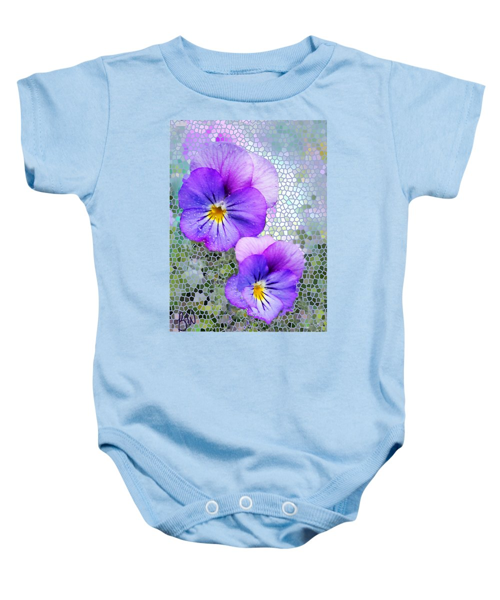Viola Baby Onesie featuring the photograph Viola On Glass by Bonnie Willis