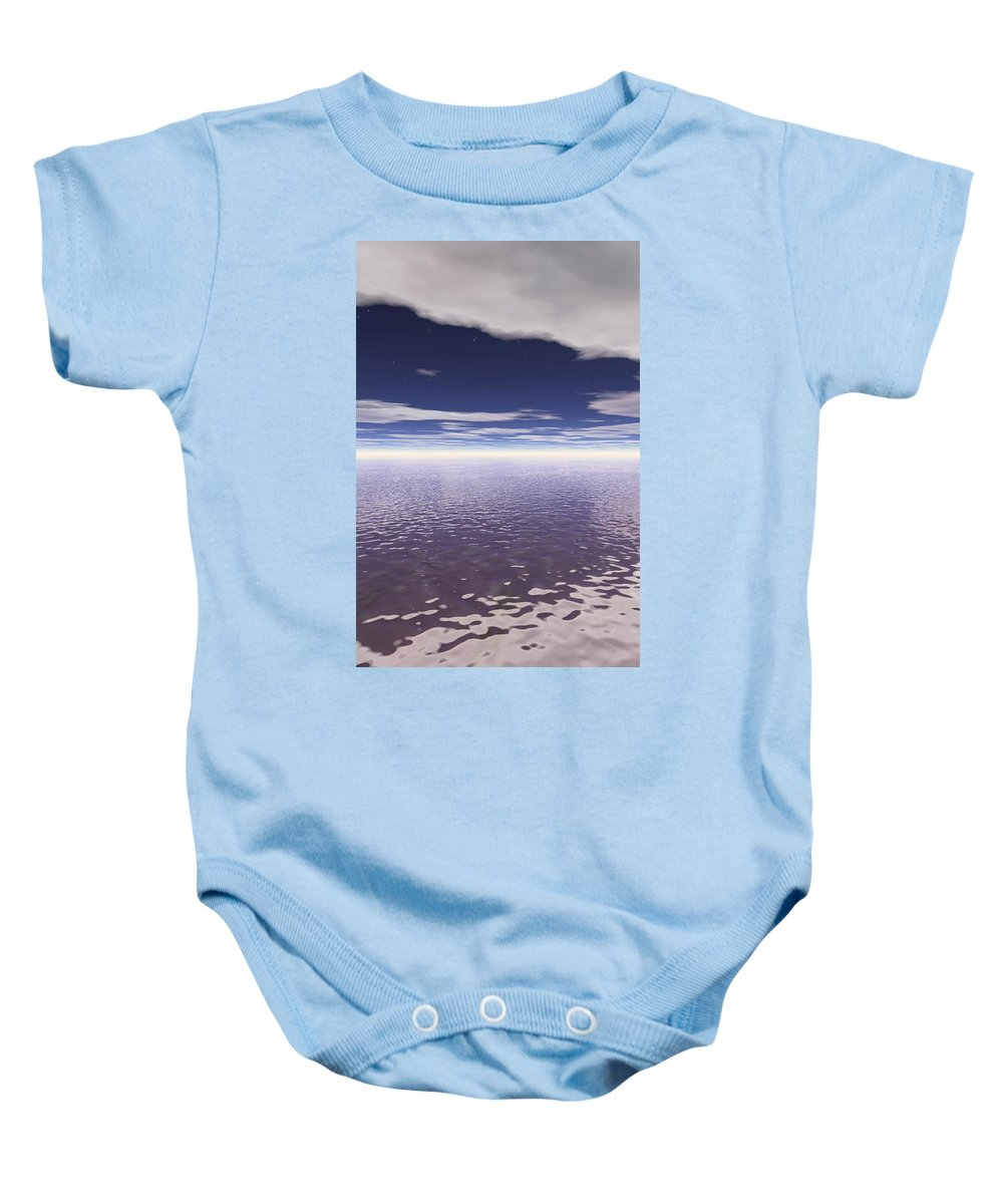 Color Image Baby Onesie featuring the photograph Water Horizon by Paul Sale Vern Hoffman