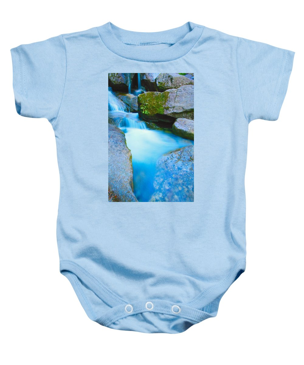 Blurred Motion Baby Onesie featuring the photograph Waterfall by Don Hammond