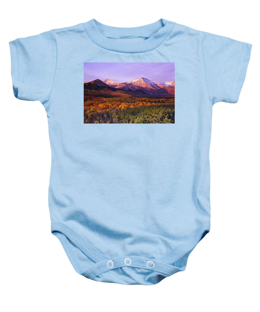Beauty In Nature Baby Onesie featuring the photograph Waterton Lakes National Park, Alberta by Bilderbuch