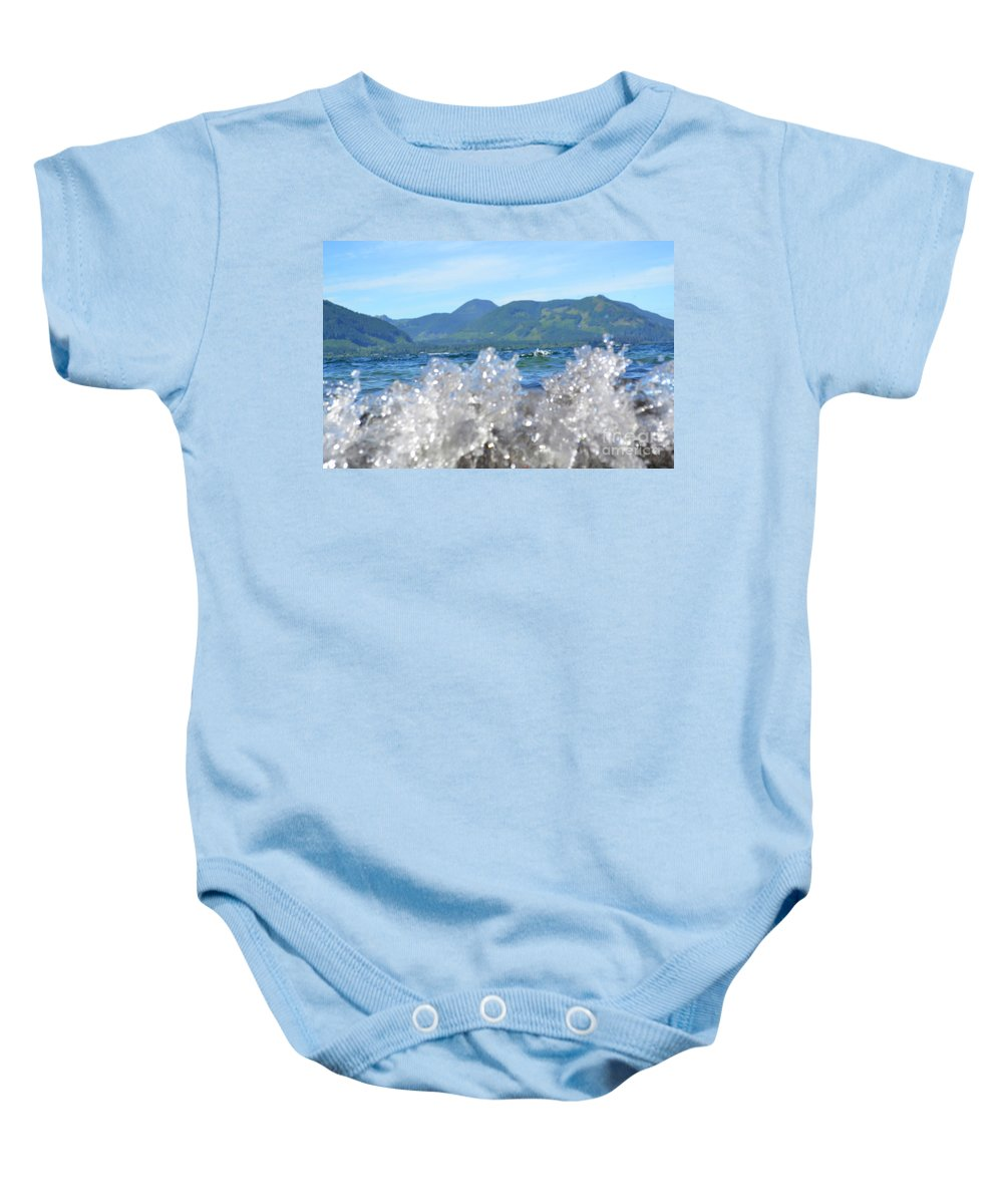 Ocean Baby Onesie featuring the photograph Waves Of Joy by Traci Cottingham