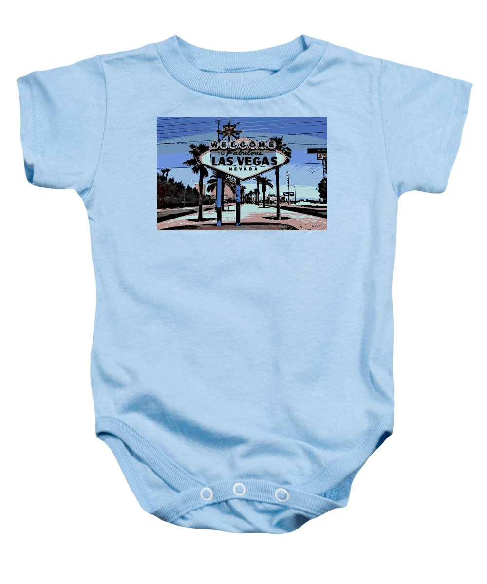 Las Vegas Baby Onesie featuring the photograph Welcome To Vegas by George Pedro
