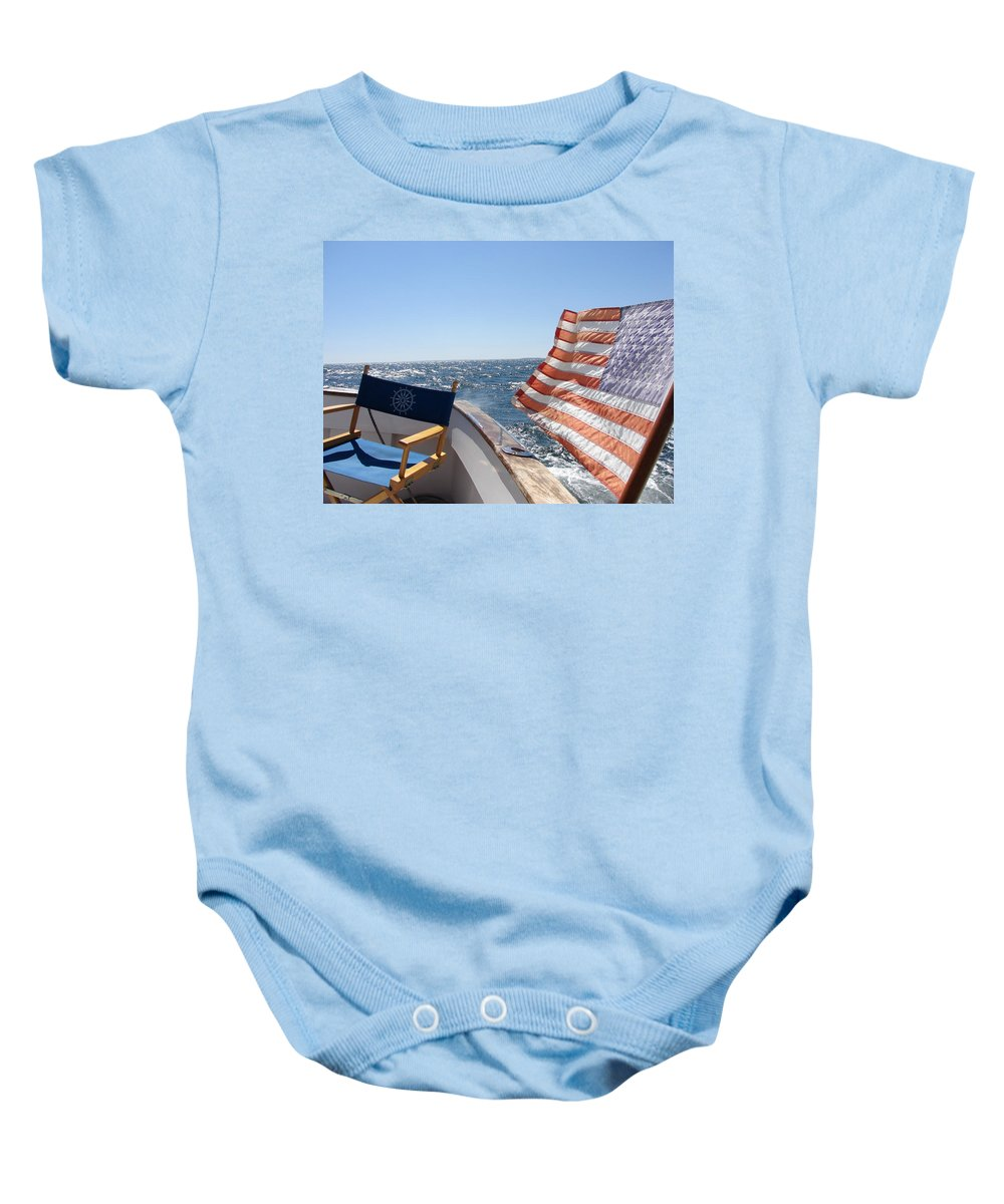 Boat Baby Onesie featuring the photograph Windy by Priscilla Richardson