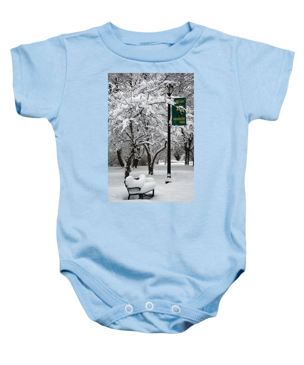 Winter Baby Onesie featuring the photograph Winter 0003 by Carol Ann Thomas