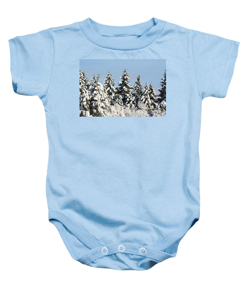 Winter Baby Onesie featuring the photograph Winter 0005 by Carol Ann Thomas