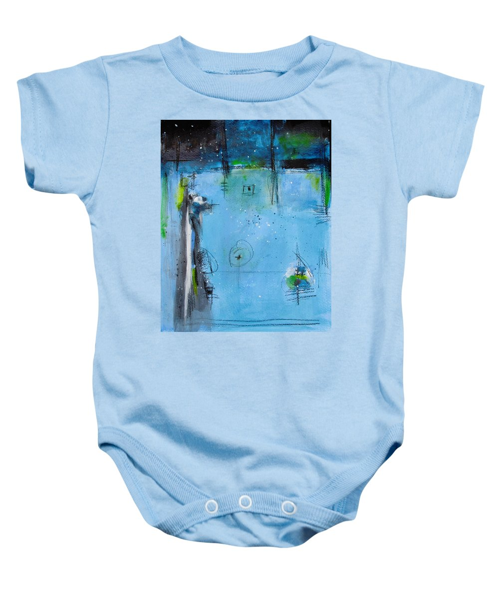 Abstract Painting Baby Onesie featuring the painting Winter by Nicole Nadeau