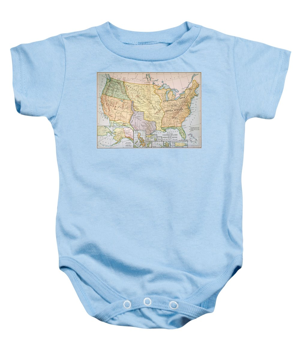 1905 Baby Onesie featuring the painting Map: U.s. Expansion, 1905 by Granger