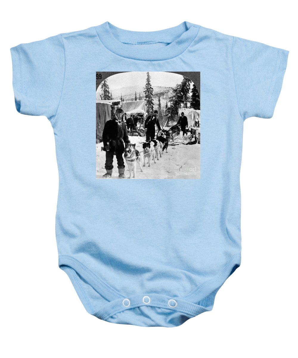 1900 Baby Onesie featuring the photograph Alaskan Dog Sled, C1900 by Granger