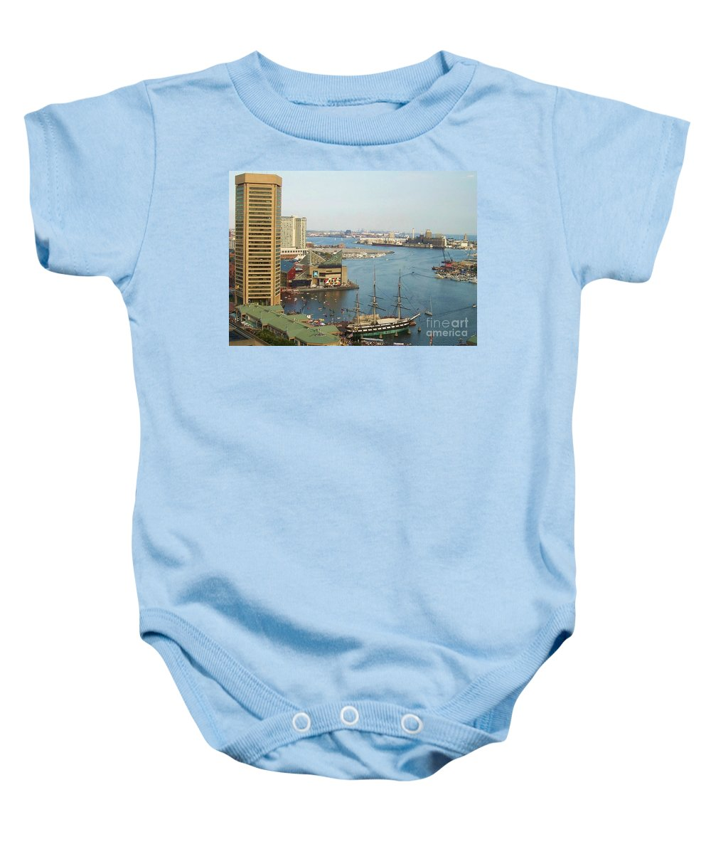 Baltimore Baby Onesie featuring the photograph Baltimore by Debbi Granruth