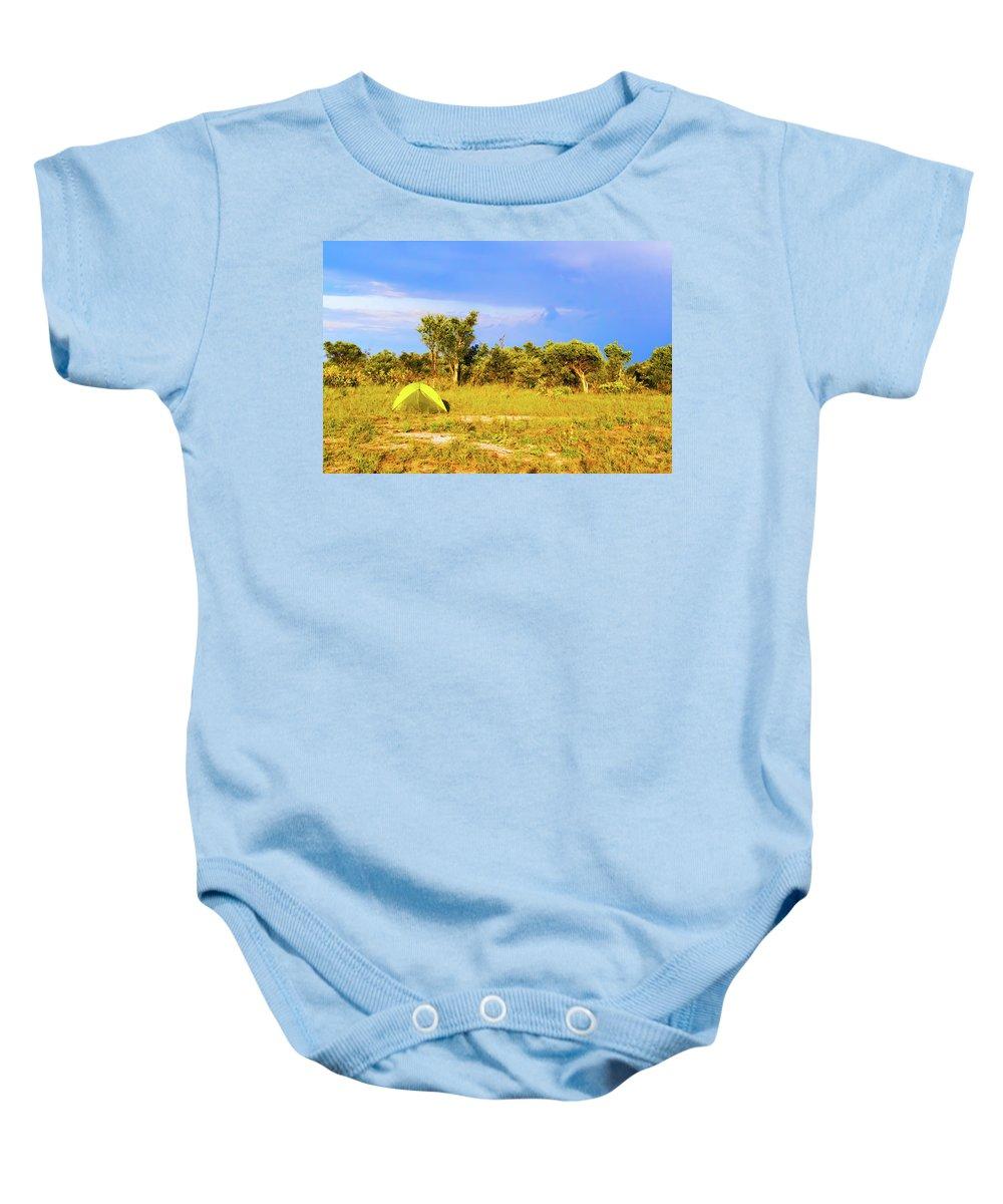 Botswana Baby Onesie featuring the photograph Camp Ground Near Kasane In Botswana by Marek Poplawski