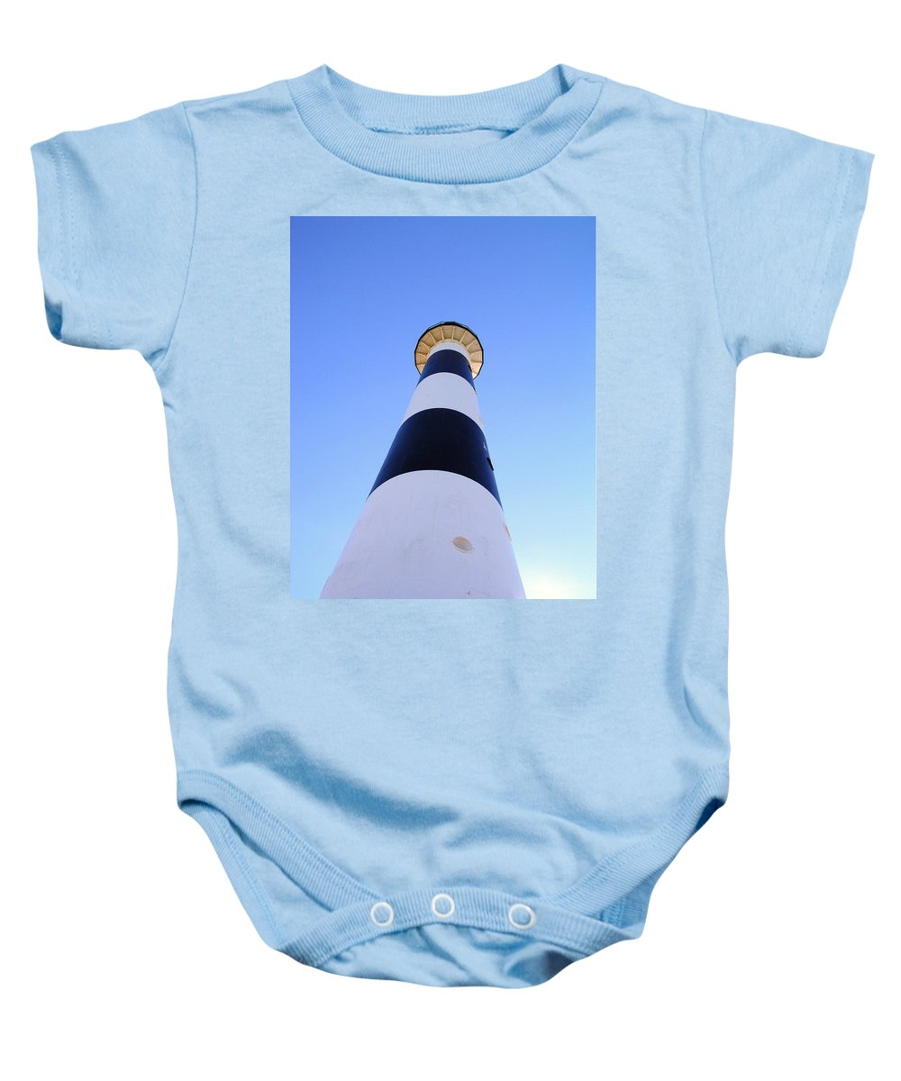 Cape; Canaveral; Light; Lighthouse; Lighthousekeeper; Keeper; Stairs; Kennedy; Space Center; Air For Baby Onesie featuring the photograph Canaveral Light by Allan Hughes