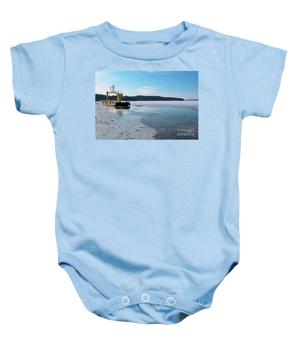 Winter Baby Onesie featuring the photograph Car Ferry by Esko Lindell