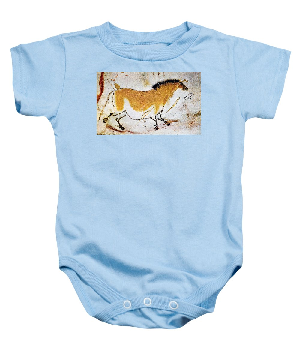 Antique Baby Onesie featuring the photograph Cave Art: Lascaux by Granger