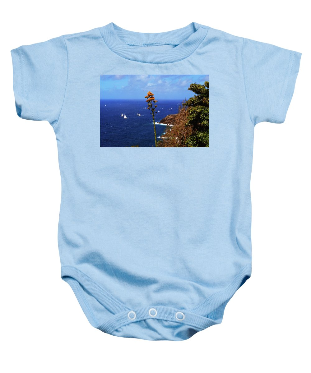 Caribbean Islands Baby Onesie featuring the photograph Daggers Los Antigua by Gary Wonning