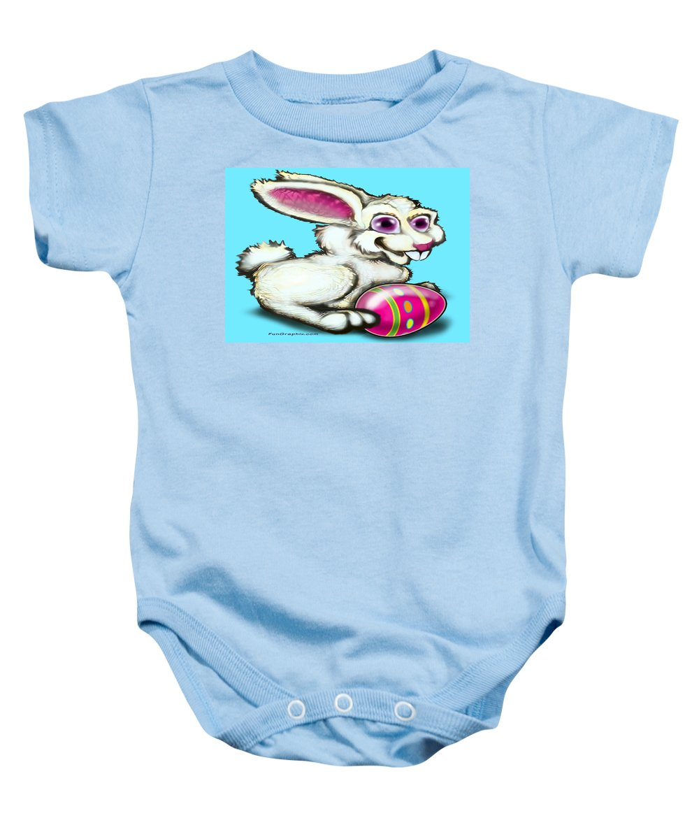 Easter Baby Onesie featuring the digital art Easter Bunny by Kevin Middleton