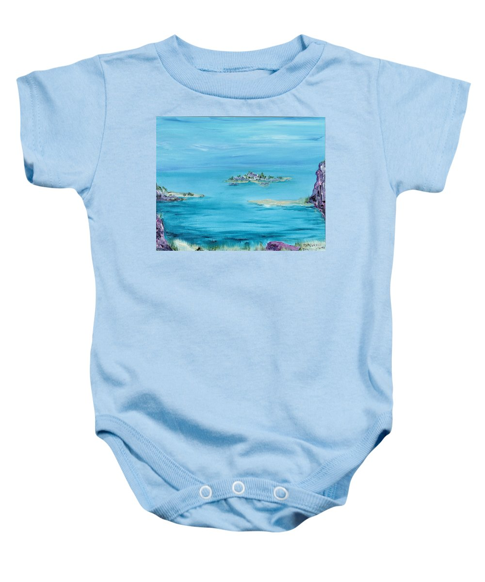 Ethereal Baby Onesie featuring the painting Ethereal by Regina Valluzzi