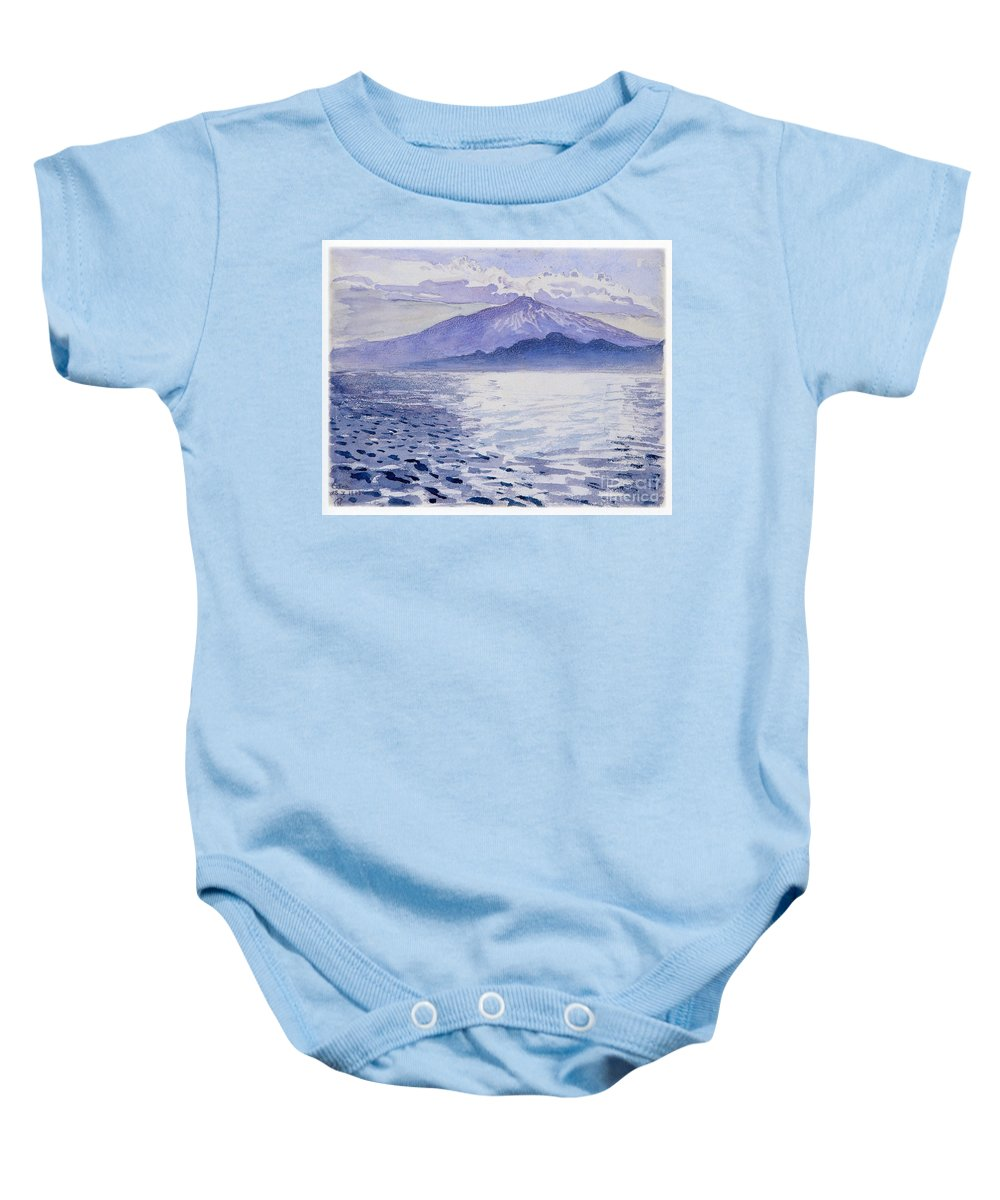 Akseli Gallen-kallela Baby Onesie featuring the painting Etna by Celestial Images