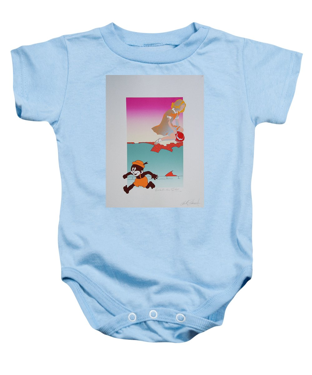 Angel Baby Onesie featuring the mixed media Exile On Main Street by Charles Stuart