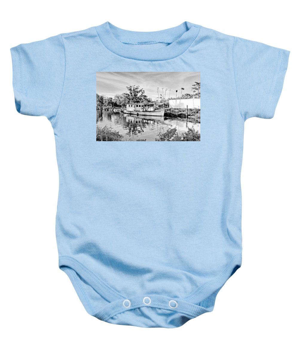 Boat Baby Onesie featuring the photograph Fisherman's Pride by Scott Pellegrin