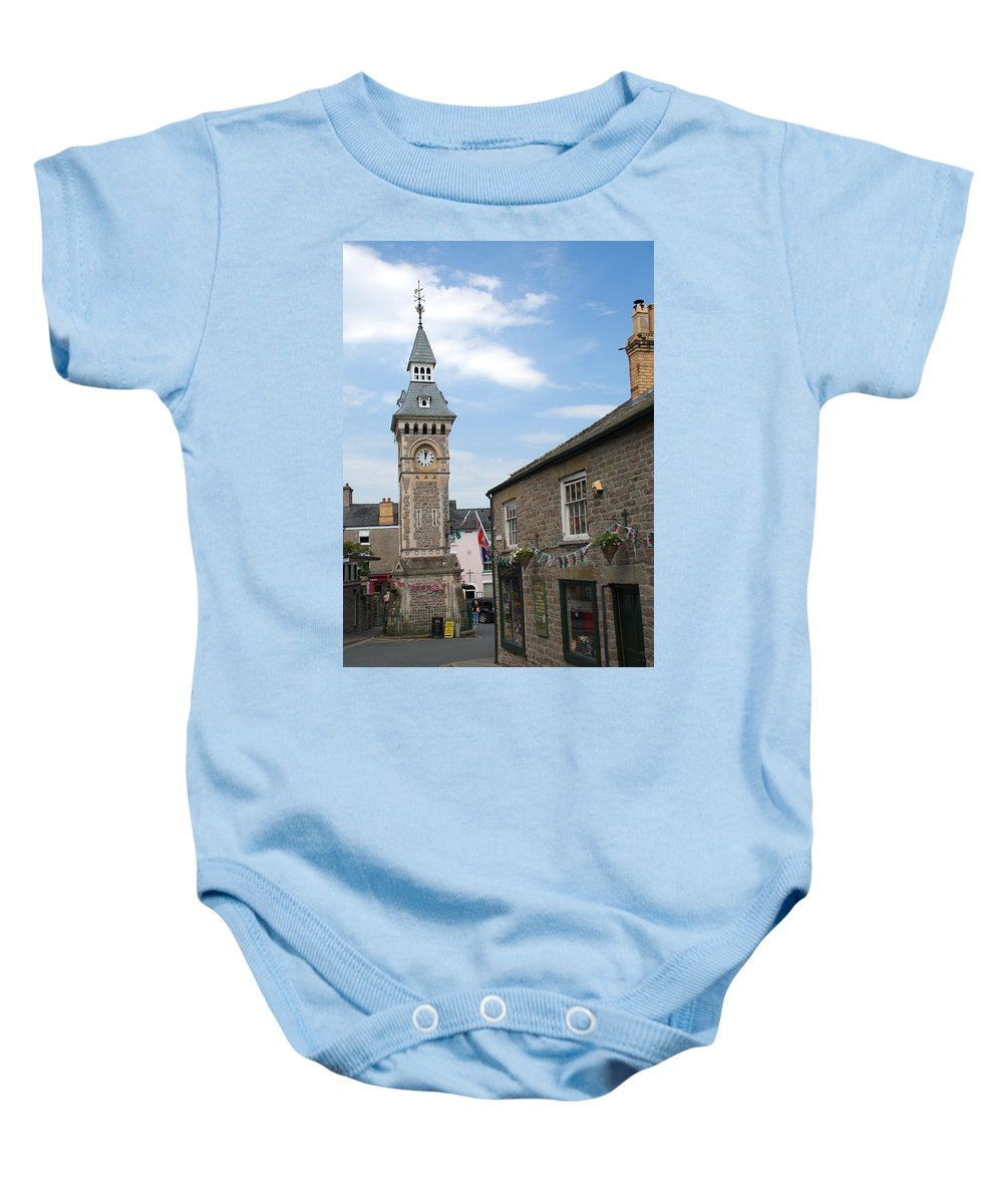 Hay On Wye Baby Onesie featuring the photograph Hay-on-wye by Chris Day