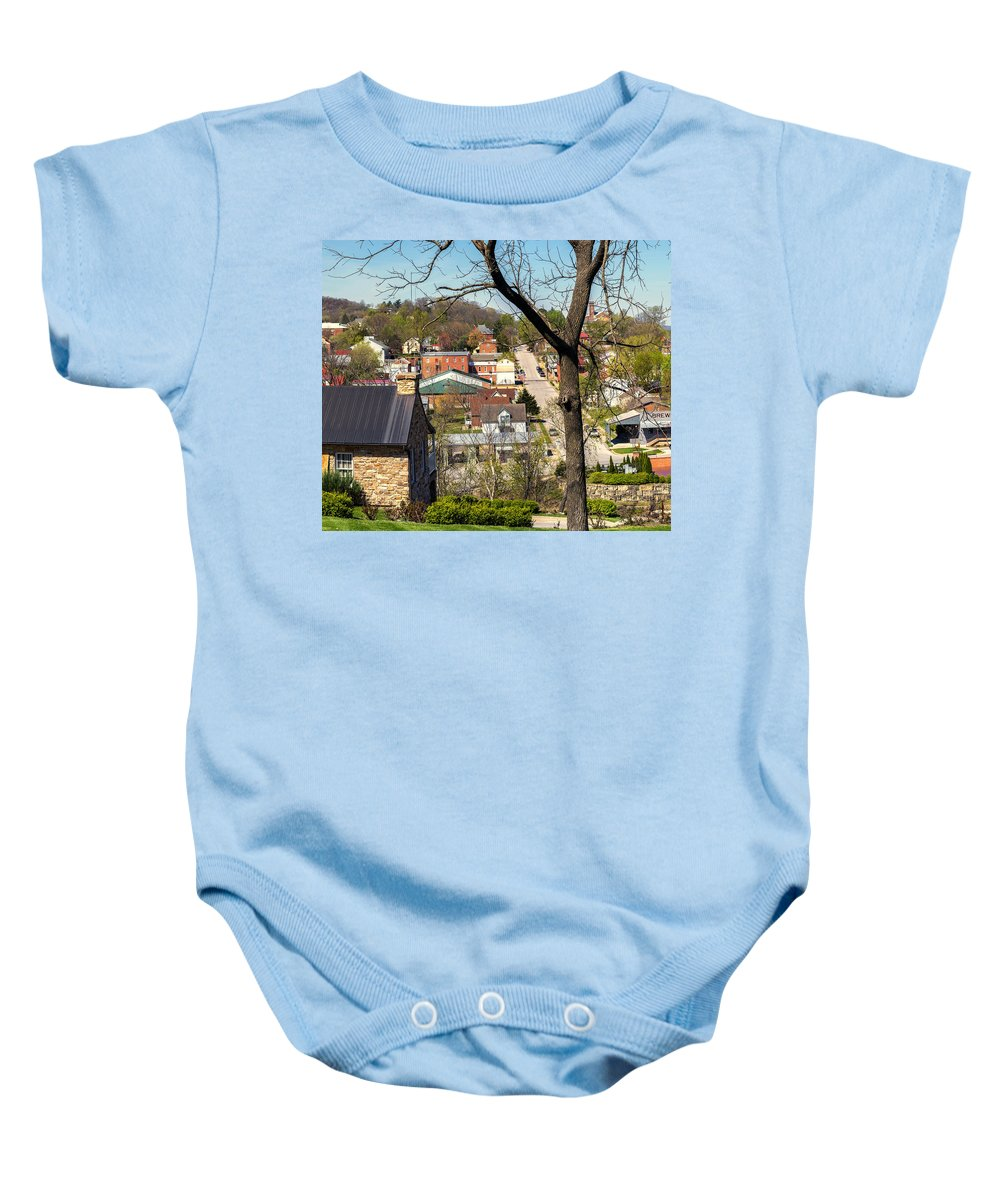 Hermann Baby Onesie featuring the photograph 1-hermann Mo Triptych Left_dsc3992 by Greg Kluempers